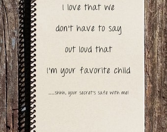 Favorite Child Journal - Mothers Day Gifts - Fathers Day Gifts