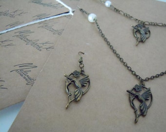 Handmade Hummingbird Charm Jewellery Set