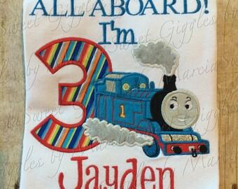 Train, Boy Birthday Shirt