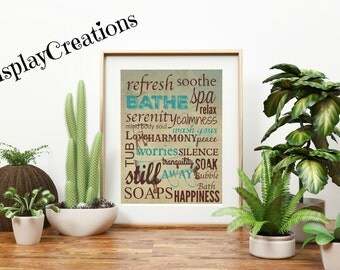 "Personalized ""Bathroom Rules"" Wall Art"