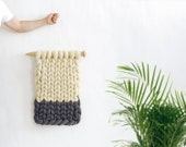 Knitted wall decor. Ohhio wall decor. Knitted hanging. Colorful Home Decor. Textured Wall Art. Textile Art