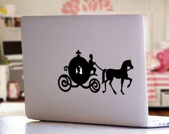 Princess Carriage Cinderella Inspired Apple MacBook Mac Laptop iPad Decal Sticker