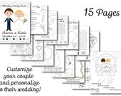 Personalized wedding coloring books for kids