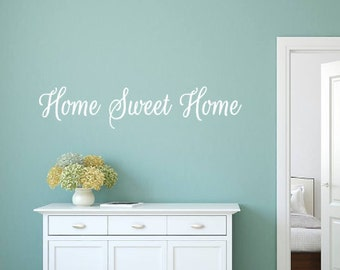 Home Sweet Home, Vinyl Wall Decal, Family, House, Entryway, Living Room, Welcome, Gift, Home Decor, Vinyl Lettering, Custom Decal