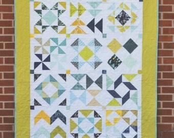 Half-Square Triangle Sampler Quilt Pattern by Jeni Baker - Fat Quarter Friendly Quilt Pattern
