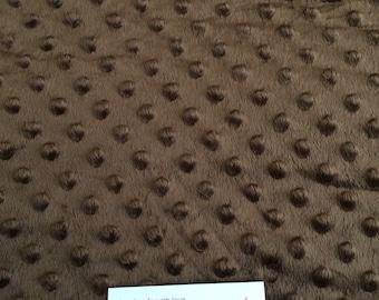 Brown minky dot fabric