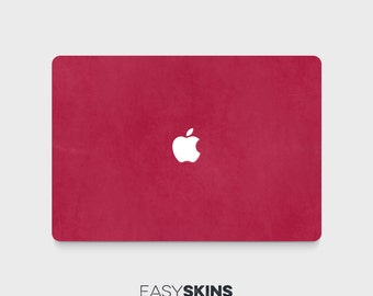 Berry Leather MacBook Skin Decal | Easy Skins