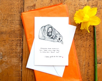 SALE* Mother's Day Card // Orang utan Mums // Card for Mums // Cute Funny Mother's Day // Orang Utan Facts