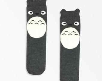 TOTORO Baby Socks, Kids Socks, Toddler Socks, Kacakids Non-Slip Sole