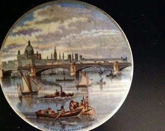 The New Blackfriars Bridge Staffordshire Pot Lid