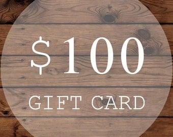 Christmas Gift Certificate | Gift Card | 100 Dollars | WiscoFarms | Christmas Gift | Wedding Gift | Birthday Gift