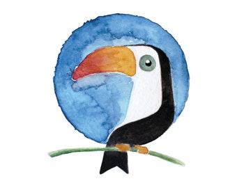 Toucan Watercolour Illustration Print
