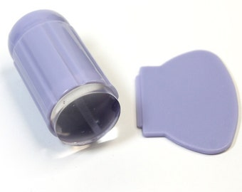 CLEAR JELLY STAMPER - New! You can see the design throught it!! | Lavender color