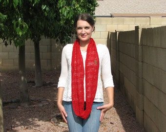 Red Sparkle Lacy Cowl