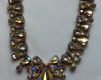 Vintage 1950 rhinestone necklace