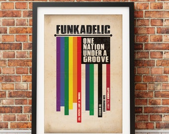 Original Funkadelic, One Nation Under a Groove Print