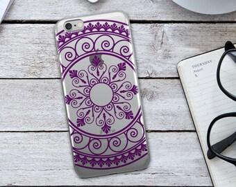 Purple Tribal Mandala  iPhone Case - Purple Tribal Mandala Phone Case - Tribal Phone Case - Mandala iPhone Case - Purple iPhone Case