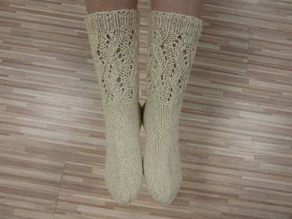 Natural Wool Knit Socks Pattern - Full Real Porn-3741