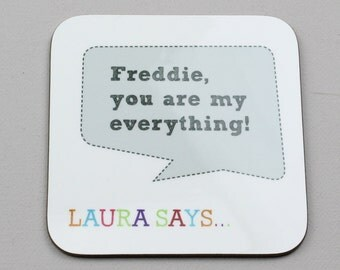 Personalised Speech Bubble Coaster