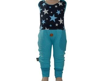 Romper * blue star * sizes 50-80