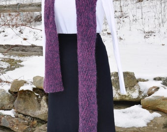 Blue and Pink Mohair Scarf