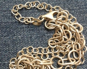 Unusual Vintage Sterling Silver Chain
