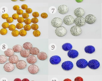 20pcs 12mm Resin Cabochons -13 colors, now your favorite color