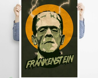 Frankenstein #2 ,The monster of Frankenstein - classic, horror, movie, hammer, mary shelley, monsters, retro, vintage, poster, gift, dracula