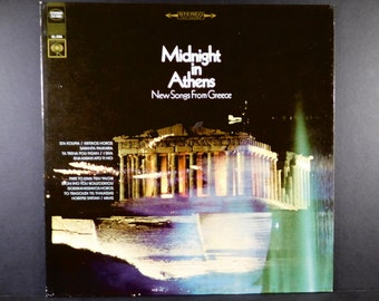 Midnight In Athens - New Songs From Greece 1968 Vinyl Record/Greek Music / Yovanna & Zoitsa Kouroukli / Takis Athinaios /Grecian Pop Songs