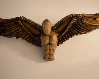 Flying & Guardian Angels Hand carved