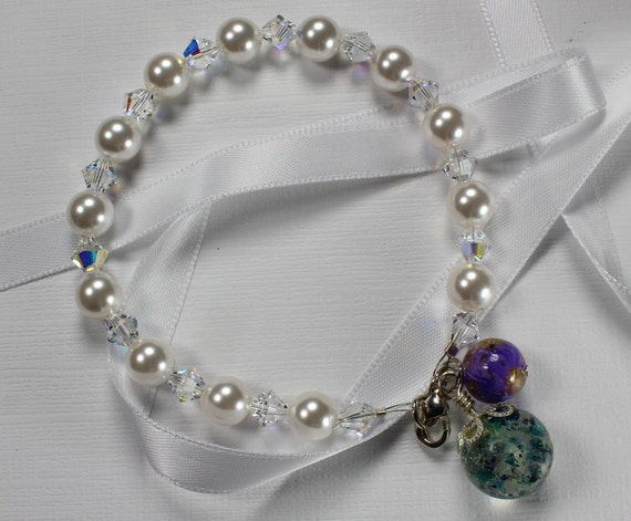 funeral flower jewelry swarovski drop bracelet memorial flower jewelry by my 143