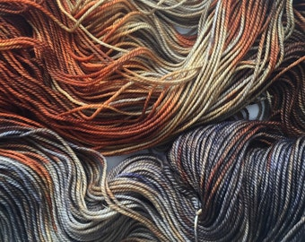 MCN 70/20/10 Superwash Merino, Cashmere, Nylon sock- Rust, 400 yards