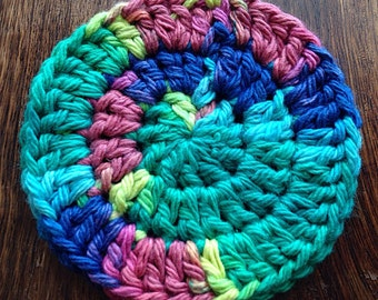 Psychedelic Drink Coasters, Cotton Drink Coasters, Drink Coasters, Crochet Coasters, Coasters  Set