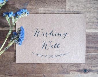 Wedding Wishing Well Sign