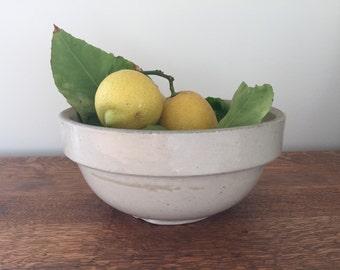 Vintage farmhouse ceramic bowl
