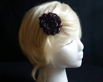 Chiffon rosette hair clips
