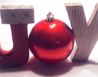 Freestanding Decorative Christmas Letters JOY