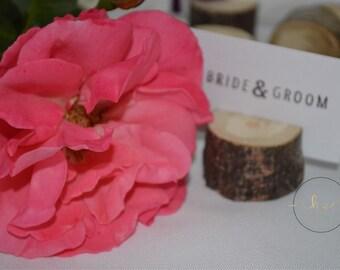Rustic Place Card Holders x30, Rustic wedding seating arrangement, Rustic wood slices, Rustic card holders, Barn wedding supplies