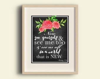 Song 134 | JW | Sing to Jehovah | Printable | Song quote print | Jehovah's Witnesses 0024