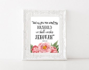 Joshua 24:15 | Bible Verse Printable | JW | Wall Art | INSTANT DOWNLOAD | Jehovah | 0031