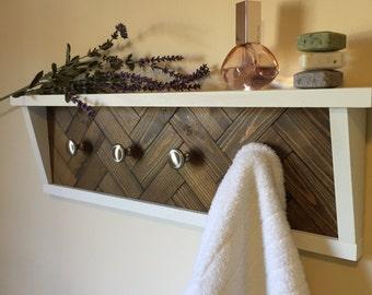 towel rack, bathroom organizer, towel hooks, bathroom shelf, scarf organizer, coat rack