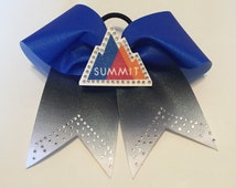 Summit Cheer Bow Any Colors Big Texas Size Ombre Glitter Rhinestones Customized Competition Team Cheerleader Bows
