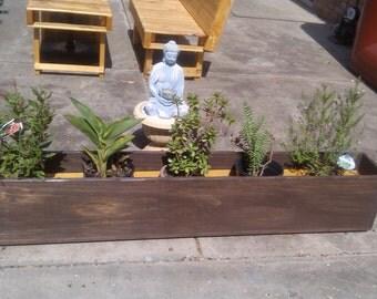 Winston Woodworks Handmade Pine Indoor/Outdoor Wood Planter Box, Flower, Succulent, Herb, Garden Planter