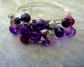 Mixed purple bangle
