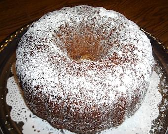 "Yummy Homemade Chocolate Chip Peanut Butter Banana Bundt Cake (10"")"