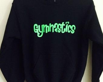 Gymnastics Hoodie-Lime Green!