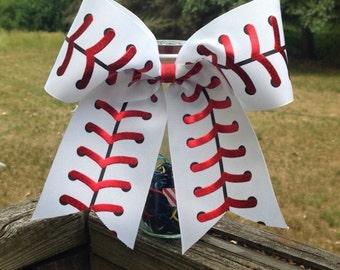 Baseball Bow//cheer bow//baseball sister//baseball girlfriend//baseball//baseball mom
