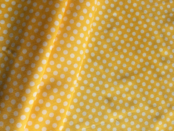 Riley Blake Basics Small Dot C350-50 Yellow 3/4 yard- 1 yard