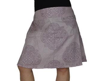 Cotton Skirt with pockets Mandala