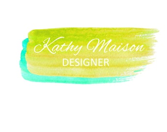 Paint Streaks-Multiple Color Variations; Watercolor Logo; Ready to Customize